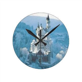 眠れる森の美女の城 ラウンド壁時計