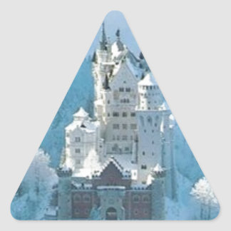 眠れる森の美女の城 三角形シール