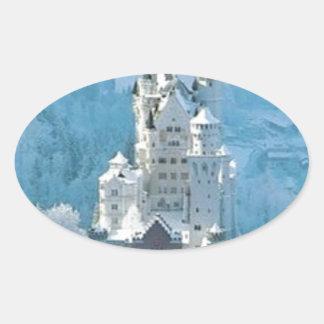 眠れる森の美女の城 楕円形シール