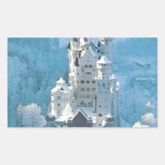 眠れる森の美女の城 長方形シール
