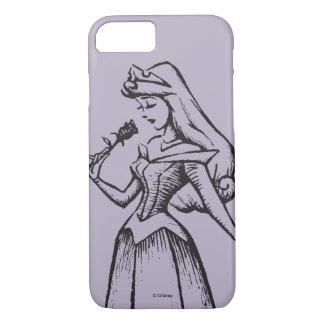 眠れる森の美女|のオーロラ-ヴィンテージは上がりました iPhone 8/7ケース