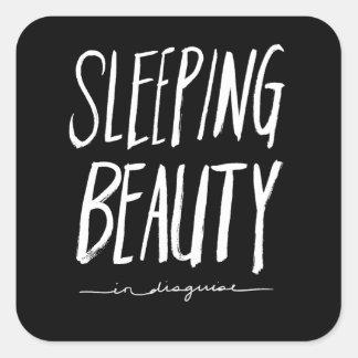 眠れる森の美女 の白いブラシの原稿のスタイル スクエアシール