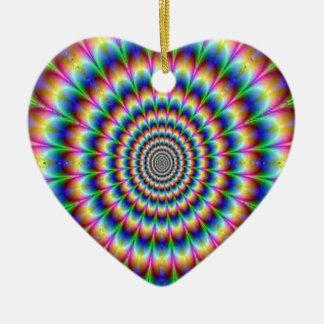 眩ますサイケデリックな円の移動錯覚 セラミックオーナメント