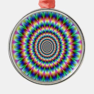 眩ますサイケデリックな円の移動錯覚 メタルオーナメント