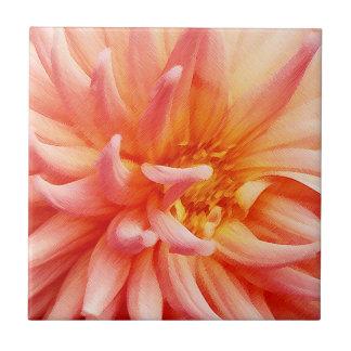 眩ますダリアの花 タイル