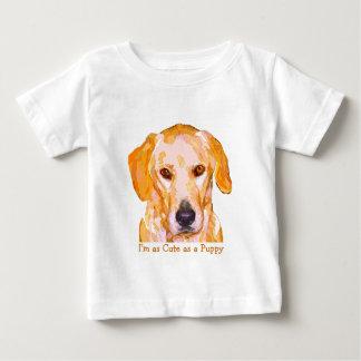 眩ますラブラドル・レトリーバー犬の乳児の衣類 ベビーTシャツ