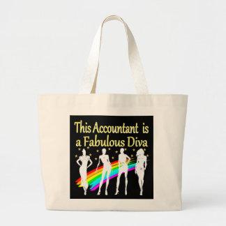 眩ます会計士の花型女性歌手のデザイン ラージトートバッグ
