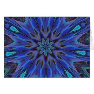 眩ます青いアワビの真珠母の曼荼羅 カード