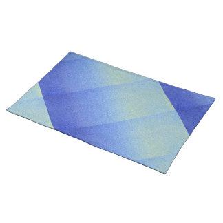 眩ます青くグラデーションなグリッターの砂の一見の暗闇ライト ランチョンマット