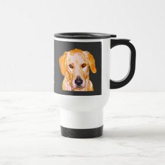 眩ます黄色のタンブラーのラブラドル・レトリーバー犬 トラベルマグ