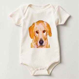 眩ます黄色の衣類のラブラドル・レトリーバー犬 ベビーボディスーツ