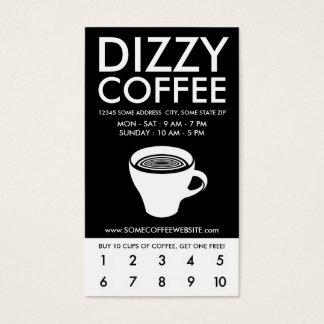 眩暈がするようなコーヒーロイヤリティプログラム 名刺