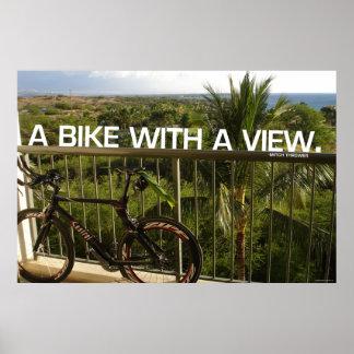 眺めのバイク ポスター