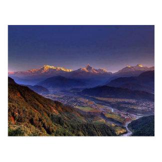 眺めの景色: ヒマラヤ山脈POKHARAネパール ポストカード