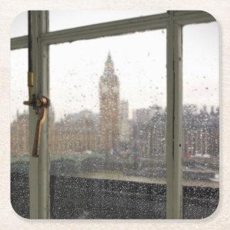 眺めの部屋-ビッグベン-ロンドンのコースター スクエアペーパーコースター