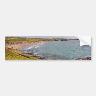 眺めのWhitesands沿岸湾Pembrokeshireウェールズ バンパーステッカー