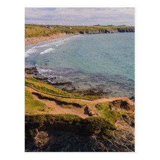 眺めのWhitesands沿岸湾Pembrokeshireウェールズ ポストカード