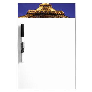 眺めを均等にするフランス、パリエッフェル塔 ホワイトボード