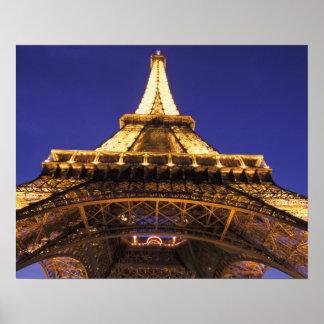 眺めを均等にするフランス、パリエッフェル塔 ポスター