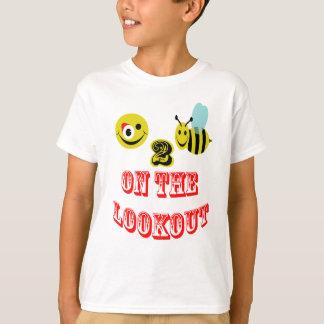 眺望の幸せな2蜂 Tシャツ