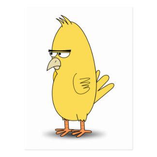 眺望の黄色の鳥 ポストカード