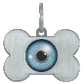 眼球のデザイン ペットネームタグ