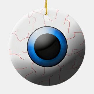 眼球のハロウィンのオーナメント セラミックオーナメント
