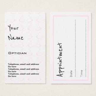 """眼鏡技師のアポイントメントカードを""""エコーします"""" 名刺"""