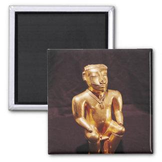 着席させた人の小像、Quimbaya マグネット