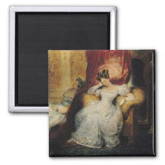 着席させた若い女性1827年 マグネット