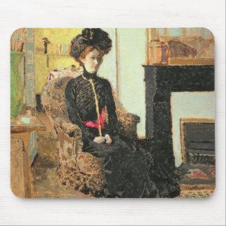 着席させたWoman 1901年 マウスパッド