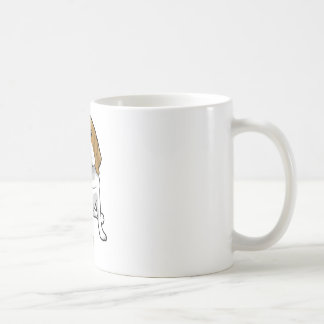 着席のビーグル犬 コーヒーマグカップ