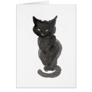 着席の黒猫 カード