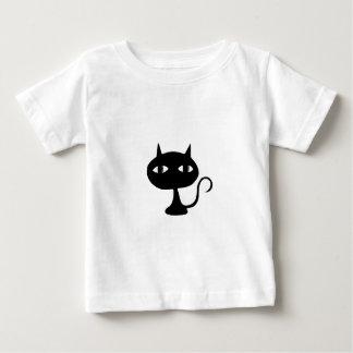 着席猫のシルエット ベビーTシャツ
