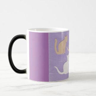 着席猫のミステリー(変形させること)マグ モーフィングマグカップ