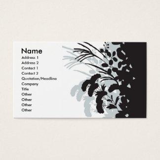 着物の花の名刺 名刺
