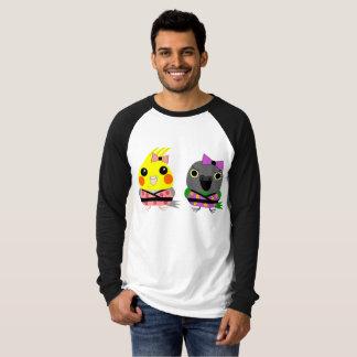 着物のTシャツのCockatielそしてセネガルのオウム Tシャツ