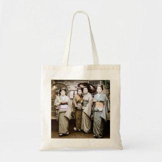 着物古い日本の美しいヴィンテージの芸者 トートバッグ