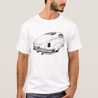 着色されたアクセントの白の1950年のBuickの鉛のそり Tシャツ