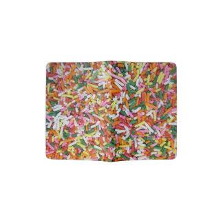 着色されたキャンデーのsprinkesの質のテンプレート パスポートカバー
