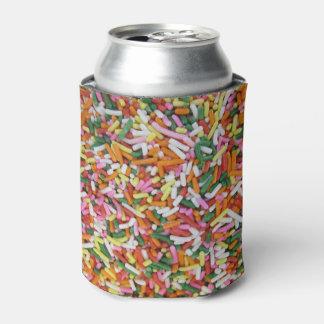 着色されたキャンデーのsprinkesの質のテンプレート 缶クーラー
