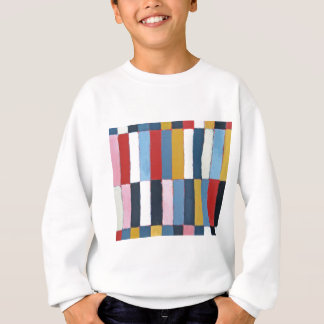 着色されたキーボード(幾何学的な表現主義パターン) スウェットシャツ