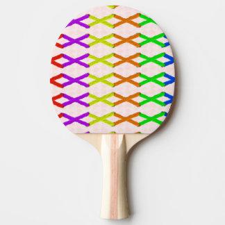 着色された十字のステッチ 卓球ラケット