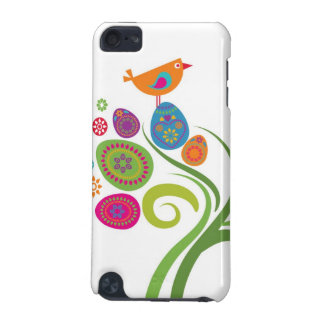 着色された卵および花が付いているイースター木 iPod TOUCH 5G ケース