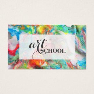 着色された塑像用粘土の美術学校-美術教師カード 名刺