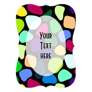 着色された平らな石造りのモザイクI + あなたのアイディア カード