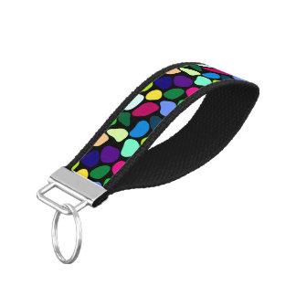 着色された平らな石造りのモザイクI + あなたのアイディア リストバンドキーホルダー