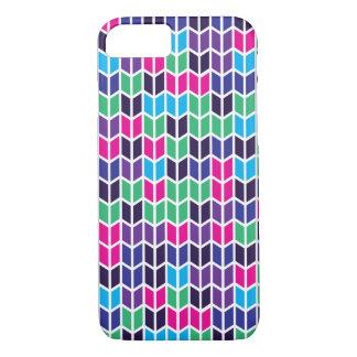 着色された幾何学的なパターン iPhone 8/7ケース