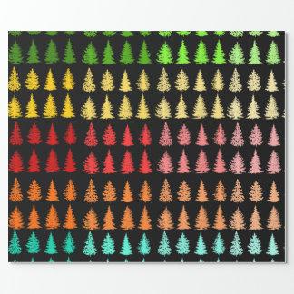 着色された木の包装紙 ラッピングペーパー