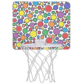 着色された泡小型バスケットボールたが ミニバスケットボールネット